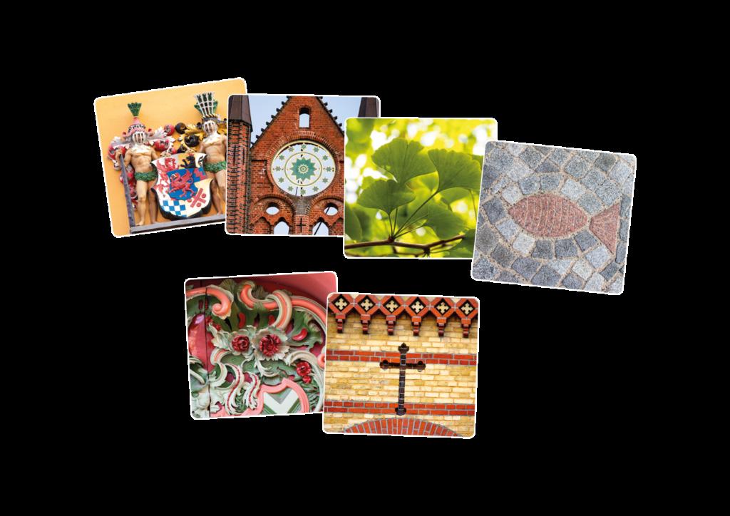Spielkarten des Stralsund Gedächtnisspiels
